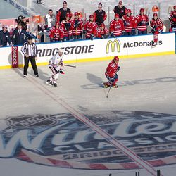 Seabrook and Ovechkin Follow the Action