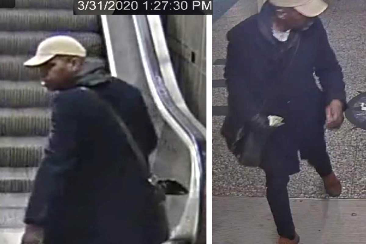 Police say this man robbed a woman March 31, 2020, at the Clark/Lake CTA Blue Line station in the Loop.