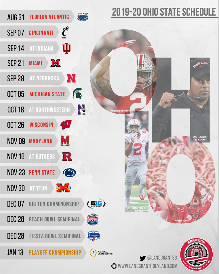 It is an image of Handy Ohio State Football Schedule Printable