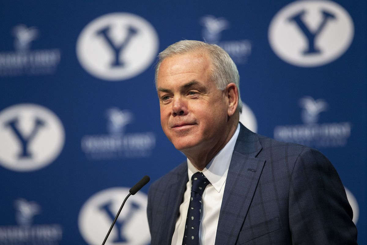 BYU head men's basketball coach Dave Rose announces his retirement at a news conference inside the Marriott Center at Brigham Young University on Tuesday, March 26, 2019.