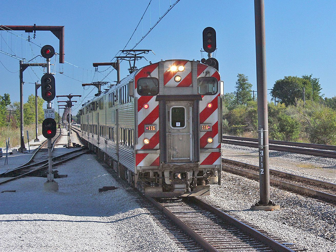 Metra Electric service was delayed Nov. 16, 2020, after a person was hit by a train near the Ivanhoe station in Riverdale.