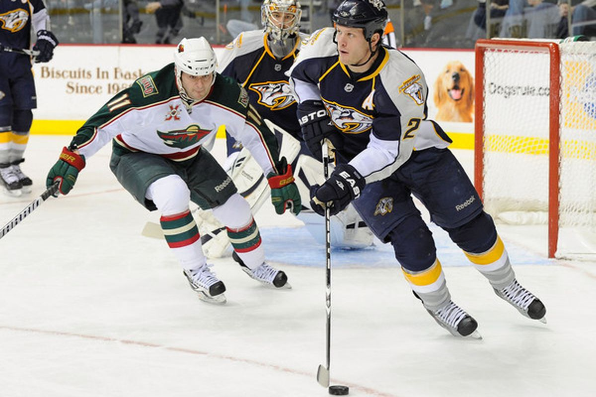 Few defenders steer the puck out of trouble and on to the attack as well as Ryan Suter.