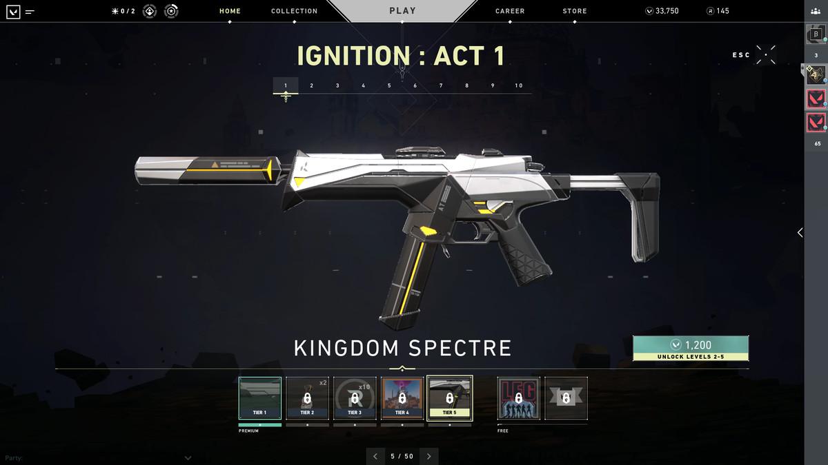 Valorant battle pass Episode 1: Ignition skins and rewards