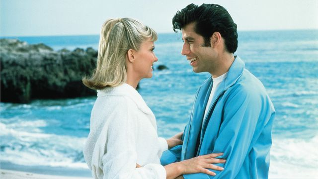 Olivia Newton-John and John Travolta in <em>Grease</em>.
