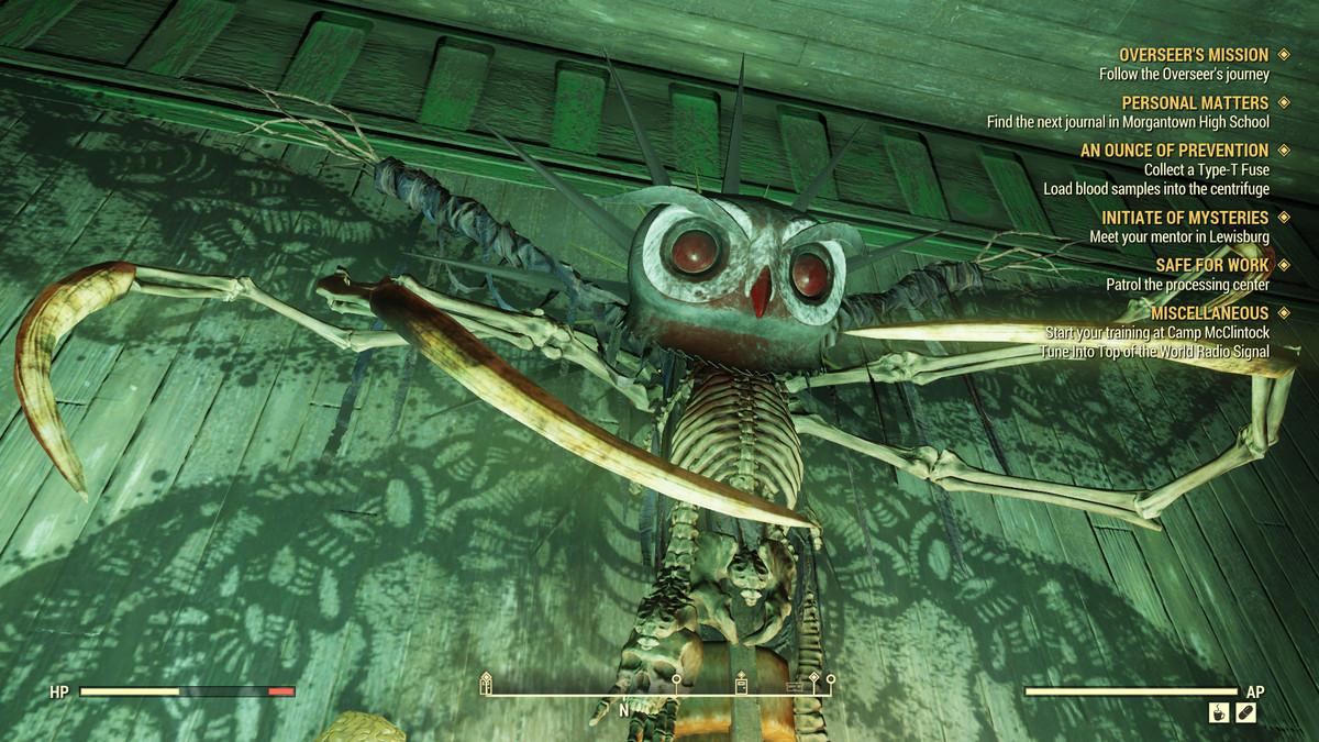 Fallout 76 - Mothman effigy in church