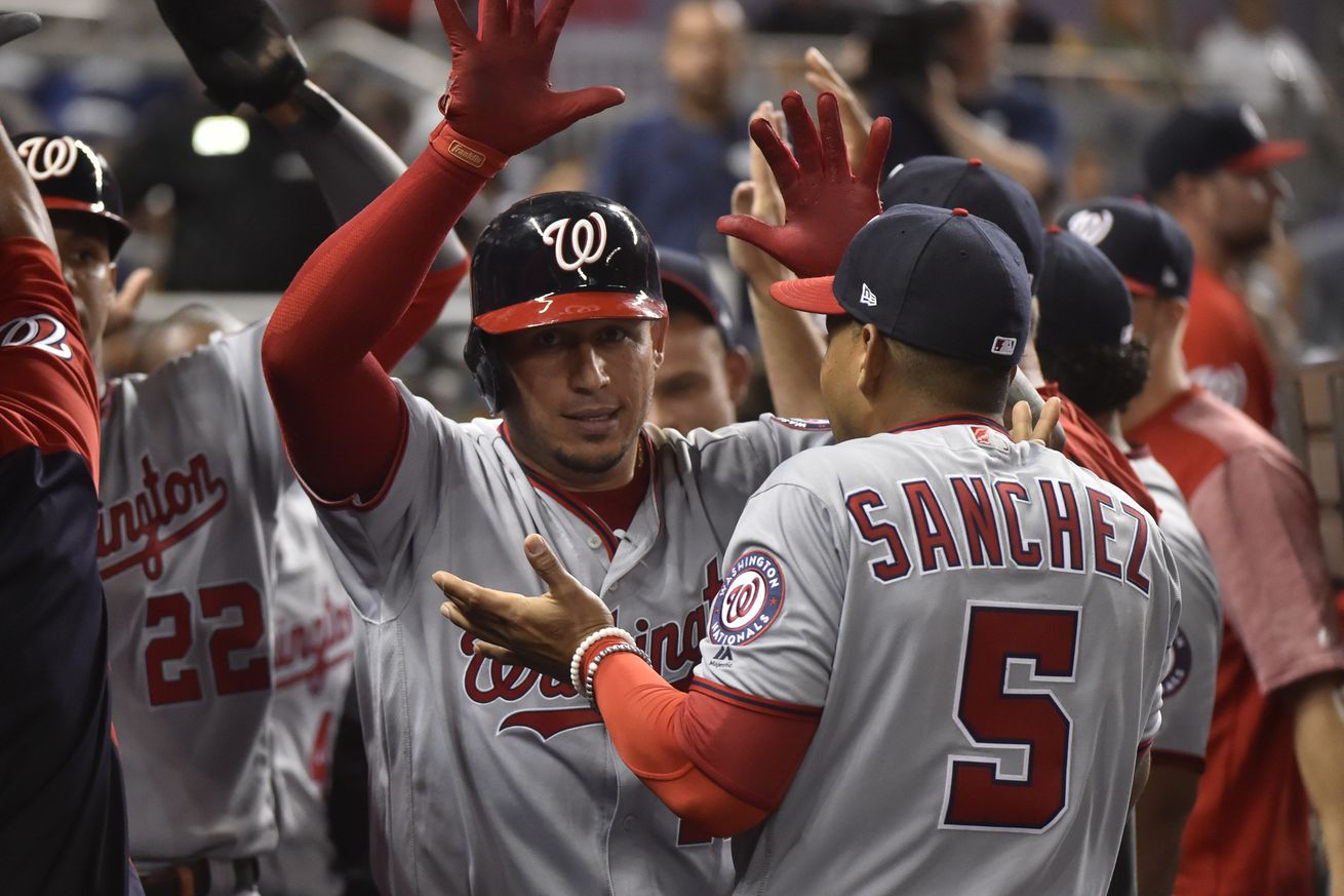 Washington Nationals 6-4 over Miami Marlins for 14th win in 17 with Fish in 2019...