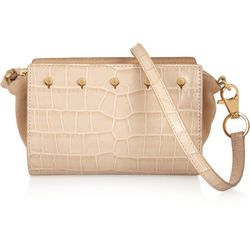 """<a href=""""https://www.theoutnet.com/product/406761"""">Pelican Sling croc-effect leather and suede shoulder bag by Alexander Wang</a>, $231.20 (was $925)"""