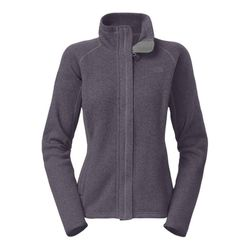 """<strong>The North Face</strong> Crescent Sunset Full Zip Jacket in Greystone Blue Heather, <a href=""""http://www.thenorthface.com/webapp/wcs/stores/servlet/ProductDisplay?partNumber=A7XV&storeId=207&langId=-1&catalogId=10201&variationId=6M8&variationName=MO"""