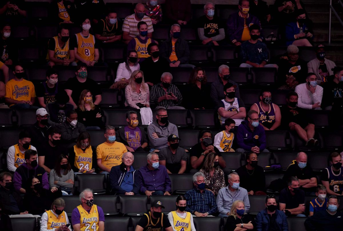 Los Angeles Lakers defeated the Golden State Warriors 103-100 during a NBA basketball Western Conference Play-In game.