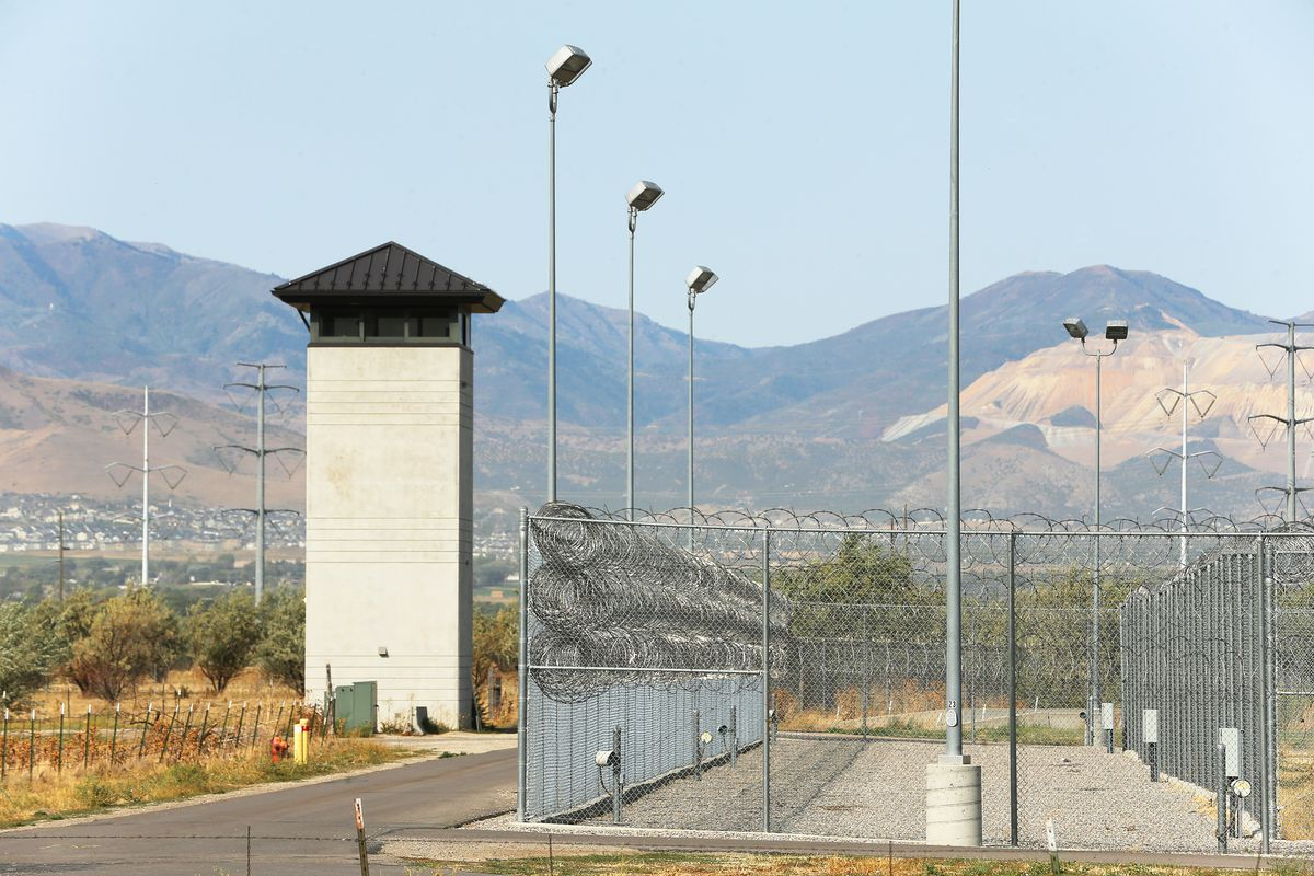 """A guard tower at the Utah State Prison on Monday, Sept. 14, 2020. State and local officials make an announcement regarding the launch of planning efforts to redevelop the Utah State Prison in Draper. """"The Point"""" is the newly established name for this 700 acres of state-owned property."""