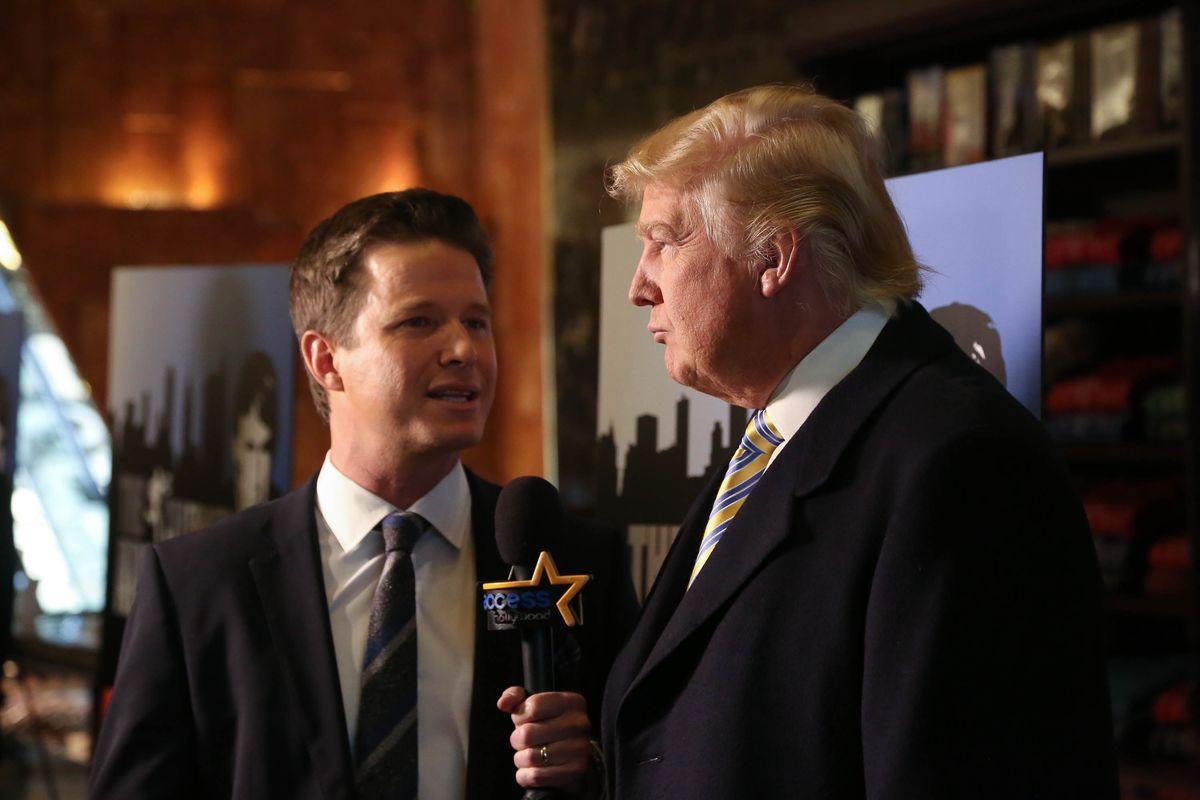 Billy Bush interviewing Donald Trump