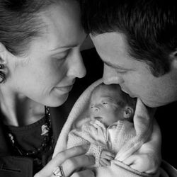 Kathy and Nate Taylor hold their son, Luke Tazelaar Taylor. He was delivered early so Kathy could begin cancer treatment. Luke died a few days after his birth Sept. 11 from an infection. Kathy Taylor died Wednesday, Dec. 31, 2014.