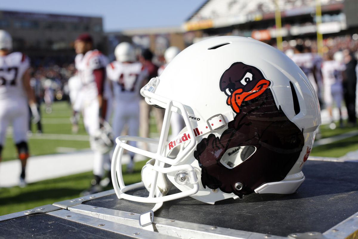 Virginia Tech actually let its football team be seen in public wearing this cartoon character on its helmets.