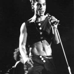 He made an otherwise adorable crop top look cool in 1986...
