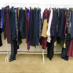 Plenty of plaids and prints from Raquel Allegra, Carven, and others.