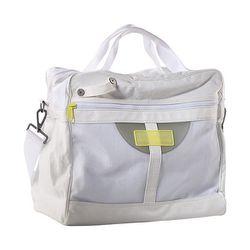 """<b>Adidas by Stella McCartney</b> Tennis Bag in white/run yellow, <a href=""""http://www.adidas.com/us/product/womens-stella-mccartney-tennis-bag/WR303?cid=Z29208"""">$200</a> at Adidas"""