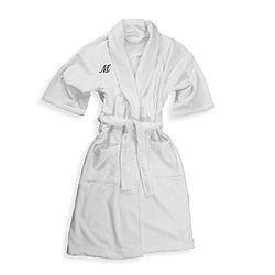 Who wouldn't want a fluffy, cotton bath robe embroidered with their initial?