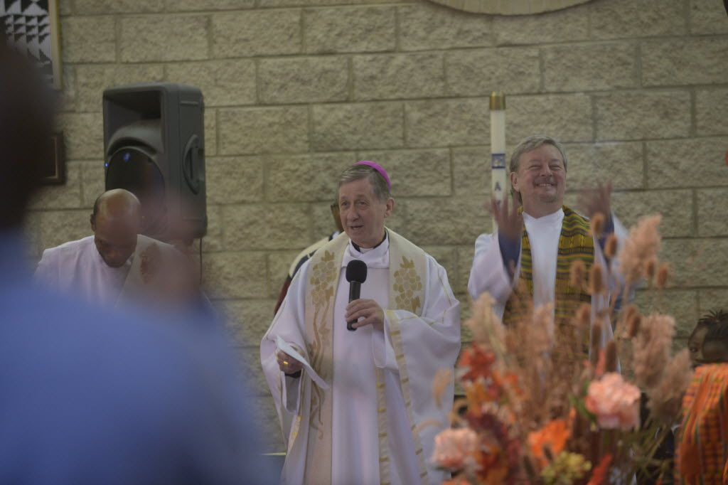 On Nov. 23, 2014, Archbishop Blase Cupich visited St. Agatha Parish, 3147 W. Douglas, to celebrate his first Sunday mass after arriving at the Archdiocese of Chicago.   Brian Jackson/ Sun-Times
