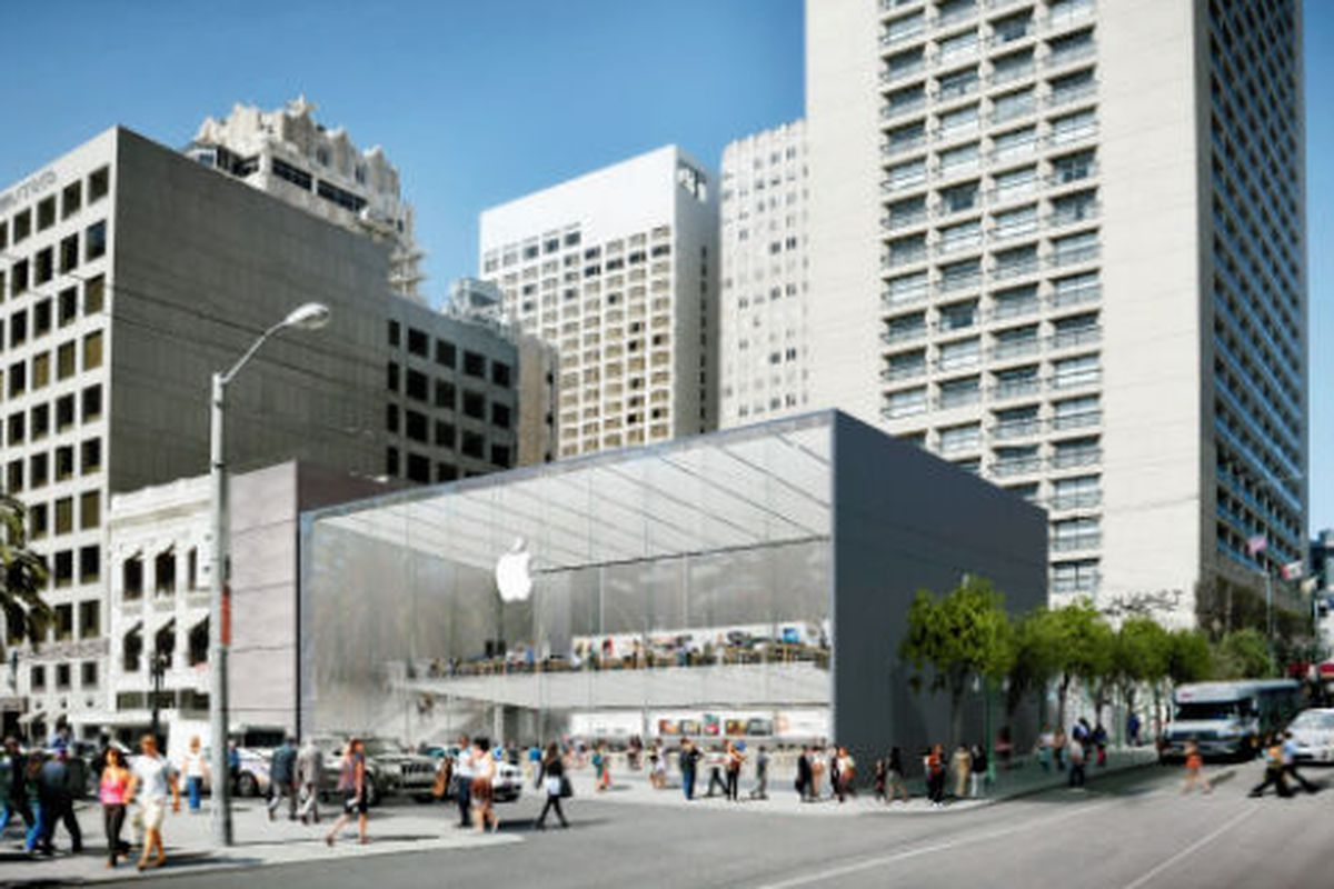 """Apple rendering via <a href=""""http://blog.sfgate.com/techchron/2013/05/16/apple-to-open-new-store-on-union-square/"""">SF Gate</a>"""