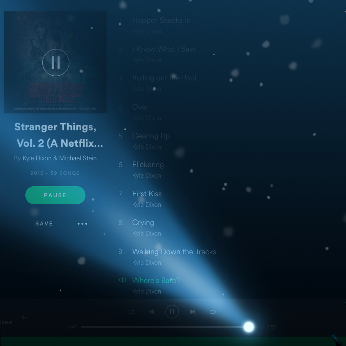 stranger things modus spotify android
