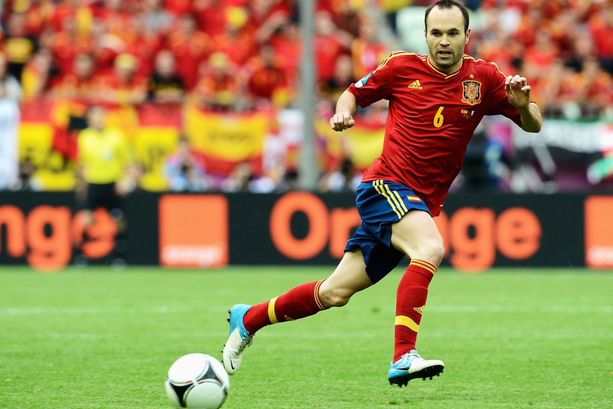 Andres Iniesta was named man of the match after the Spain vs Italy game.
