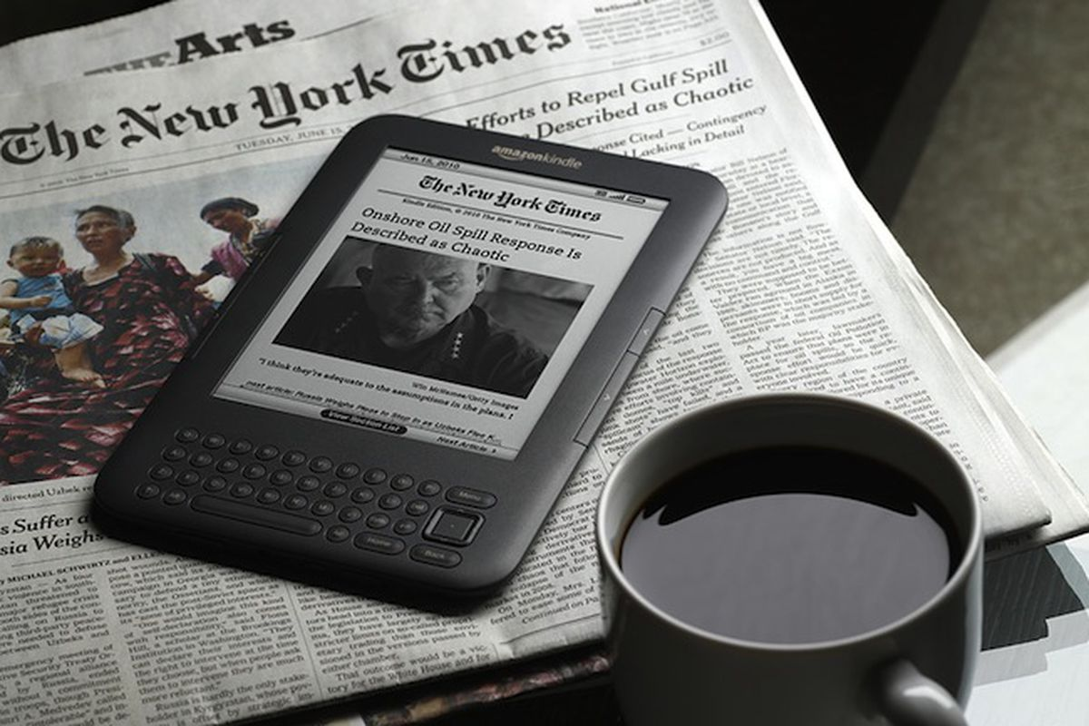 Old Kindles will be disconnected from the internet unless you update