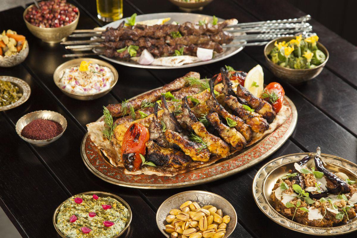 Tehranian kebabs at Berenjak, a new Soho restaurant from JKS Restaurants in London