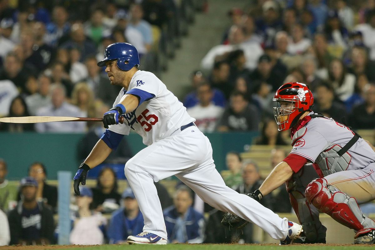 Russell Martin and David Ross, both former Dodgers seen here in 2008, are free agents this winter.