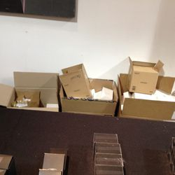 The boxes behind the tables...that looks like backstock to us.