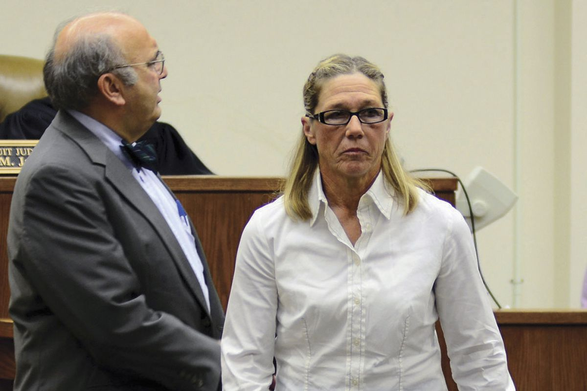 Rita Crundwell leaves a courtroom in Dixon in 2012.