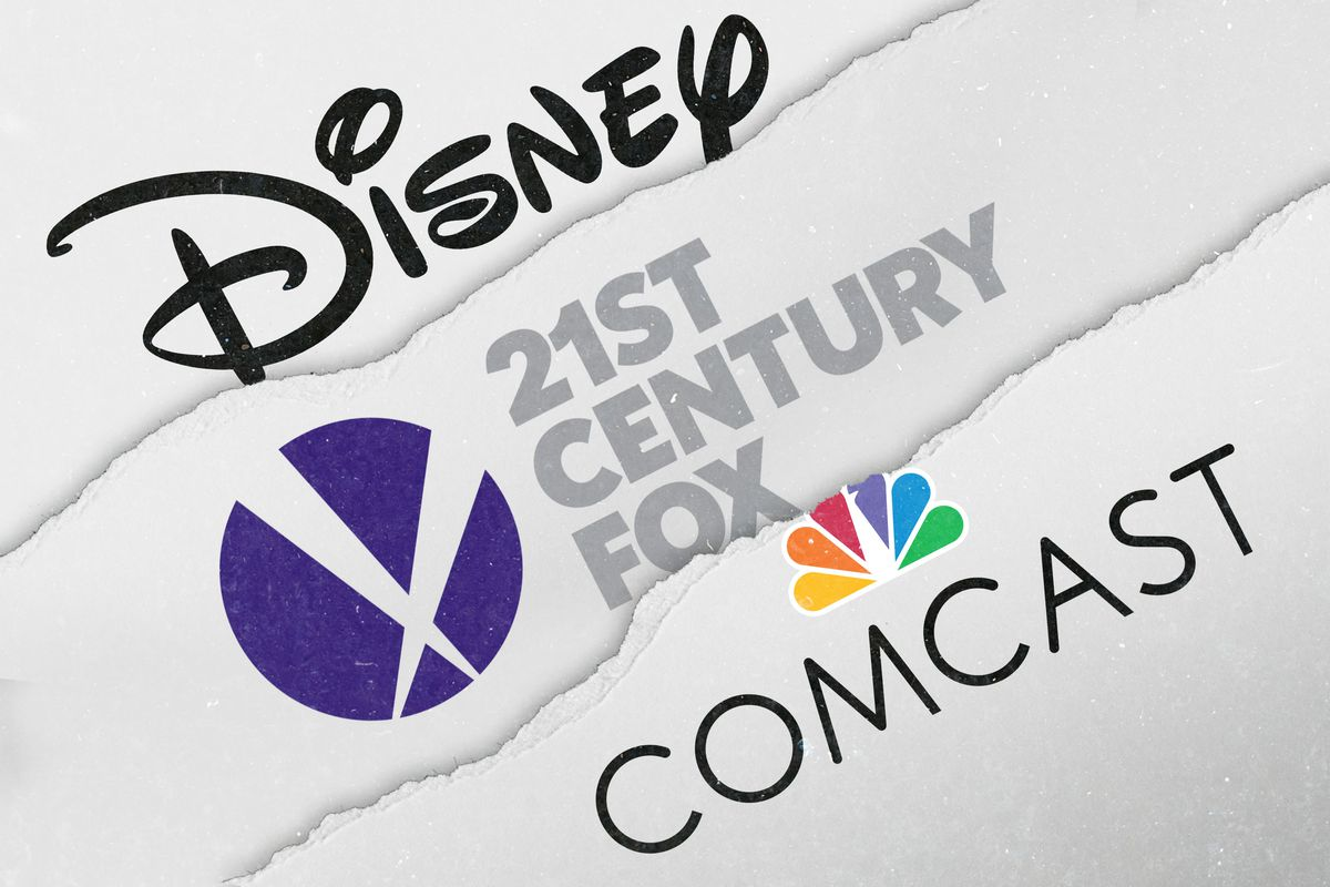 comcast and disney are locked in a bidding war and netflix is to