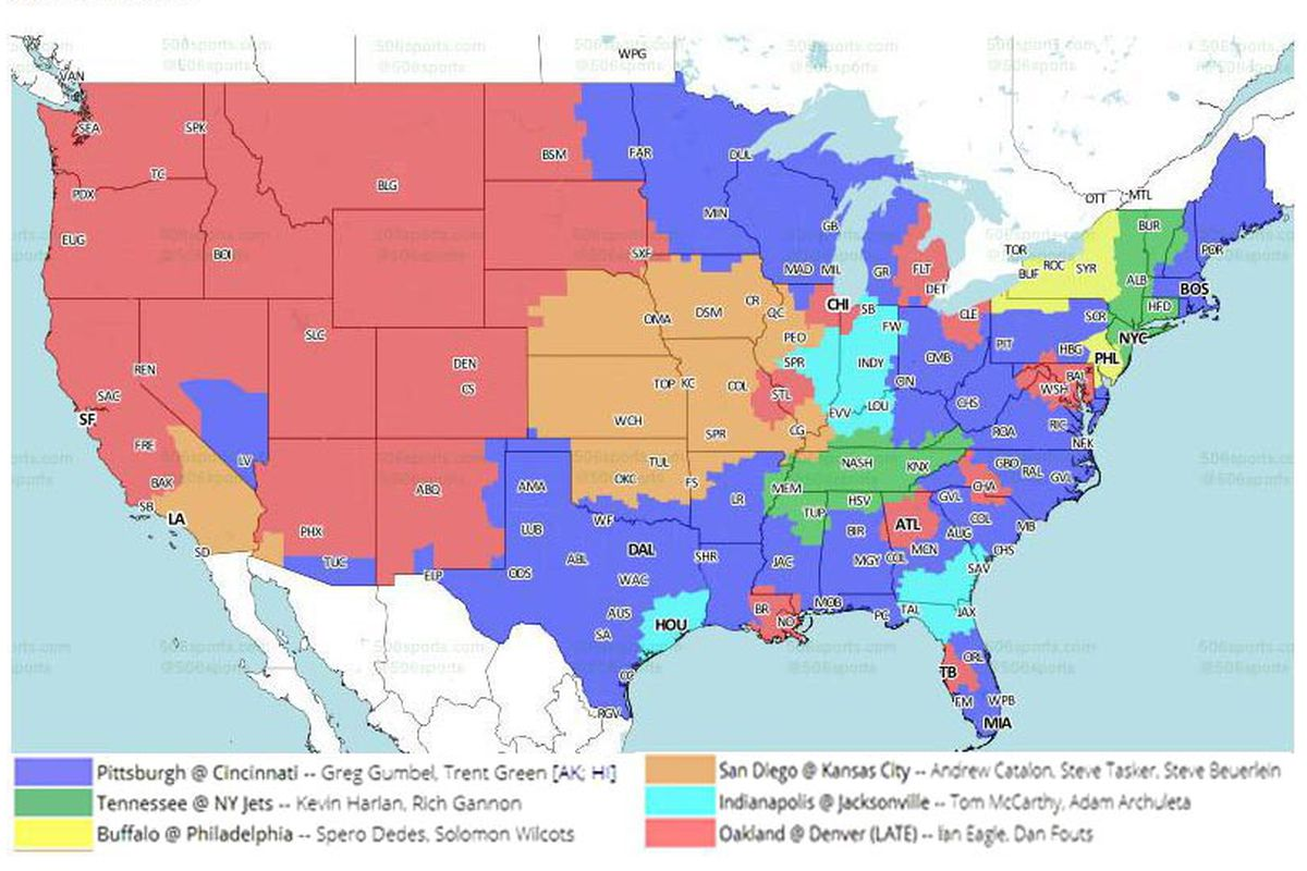 Cbs Nfl Coverage Map on