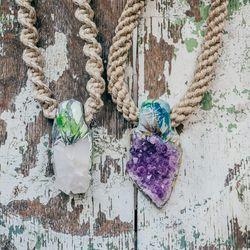 Adina Mills Crystal Necklaces, $190