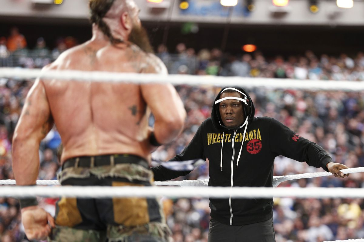 SNL's Michael Che And Colin Jost At WWE WrestleMania