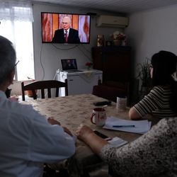 A family in Uruguay watches a session of The Church of Jesus Christ of Latter-day Saints' 191st Annual General Conference, which was broadcast from Salt Lake City on Saturday, April 3, and Sunday, April 4, 2021.