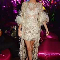 Kendall Jenner in Elie Saab spring 2015 couture at the Chopard Wild party.