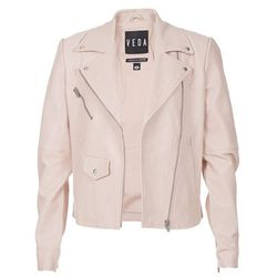 "<b>Veda</b>, <a href=""http://www.scoopnyc.com/classic-leather-moto-jacket.html"">$895</a>"
