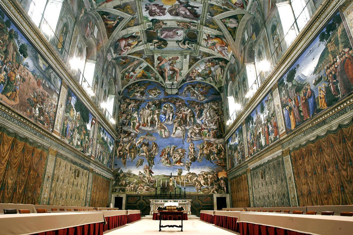 Following this ancient tradition, the pagan oracle Sibyl most famously appears in Michelangelo's Sistine Chapel murals beside prophets of the Old Testament. The Sistine Chapel appears here in the 2005 file photo.