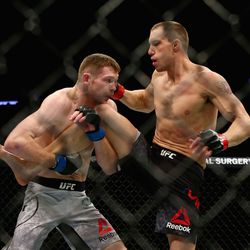 In the featured prelim, Joe Duffy and James Vick meet in the centre of the cage.