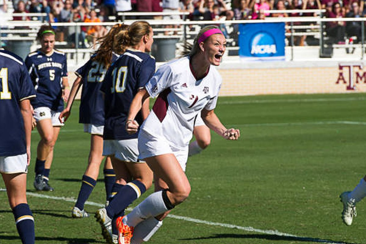 Annie Kunz at the Notre Dame win last Sunday.