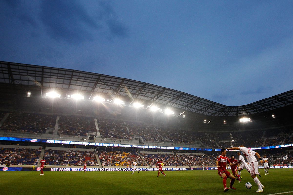 In front of a 'sold-out crowd' at Red Bull Arena