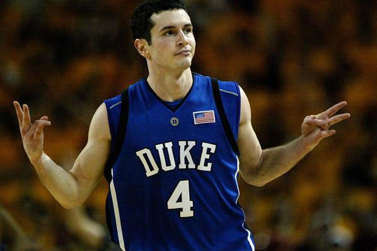 What is he doing with his hands?  J.J. Redick may be the douchiest player in the  history of college basketball.
