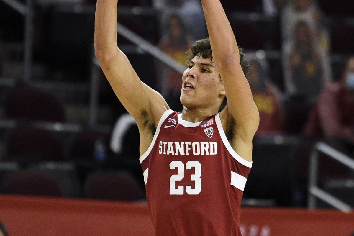 Stanford Cardinals forward Brandon Angel shoots during the second half against the Southern California Trojans at Galen Center.