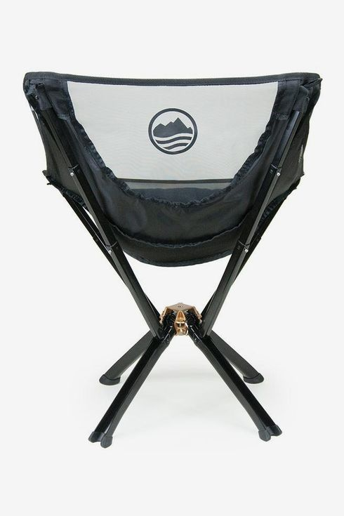 A foldable outdoor camp chair