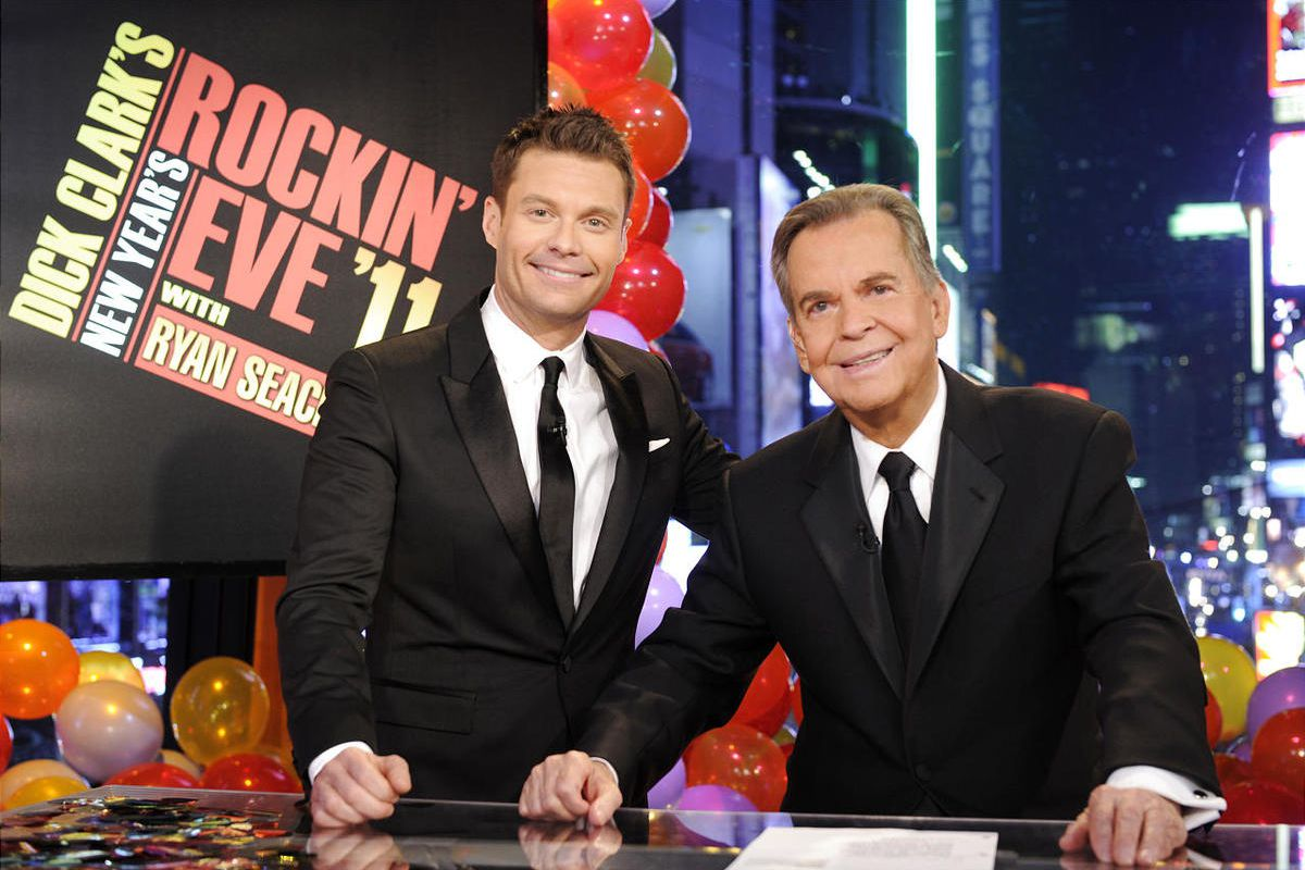 Dick clark and ryan seacrest bearded men