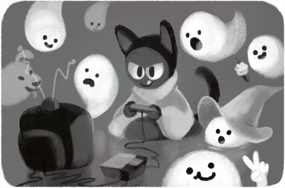 Google's adorable Halloween Doodle is part of a larger ghost story ...