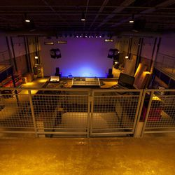 The event space from upstairs
