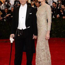 Johnny Depp and Amber Heard in Giambattista Valli