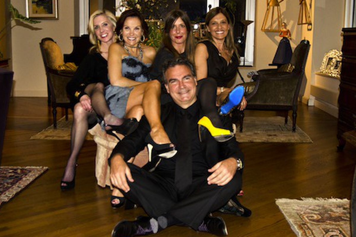 Jennifer Lane, Tina Weller, Producer, Julie Benasra and Maria Smithsburg. In the front is Director, Thierry Daher and their fabulous shoes