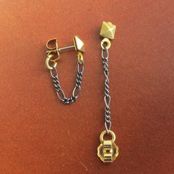 """<a href=""""http://ericaweiner.com/collections/last-chance-sale/products/pyramid-hoop-studs#.UtAMXOy81EA"""">Pyramid hoop studs</a>, $30.00 (were $40.00)"""